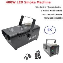 Провод управления LED 400 Вт туман дым машина дистанционного RGB цвет смешивания эжектора DJ стороны этап освещение диско
