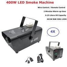 Tel Kontrolü LED 400 W Sis Duman Makinesi Uzaktan RGB Renk Karıştırma Dumanı Ejektörü LED Dj Parti Sahne Aydınlatma Duman makinesi Disko