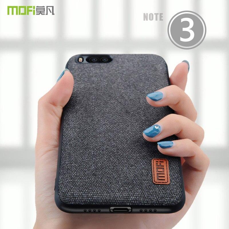 for xiaomi mi note 3 case cover MOFI mi note 3 Fabrics Back Cover Case mi note 3 Soft Silicone edge textile full Cover Case capa