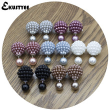 6 Pairs/Lot Mix Color Wholesale Brand Jewelry Double Pearl Stud Earrings for