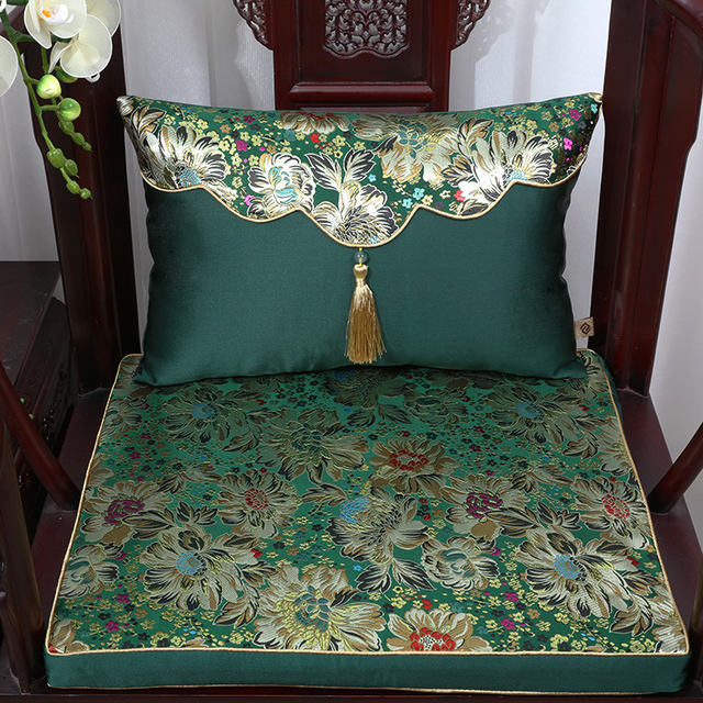Merveilleux Vintage Classic Thicken Seat Cushion For Sofa Seat Chair Decoration Chinese  Silk Brocade Backrest Lumbar Pillow