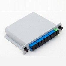 цена на PLC 1X8 Single mode splitter Fiber Optical Box 1x8 PLC Splitter box FTTH PLC Splitter 1x8 with SC/UPC connector