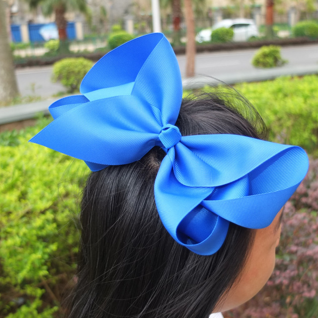 8 inch Super Extra Large hair bow Fashion bows Boutique BIG Hair Ribbons  Bows Hairpins Hair clips 40 Colors Available 40pcs lot ffe649d6a8