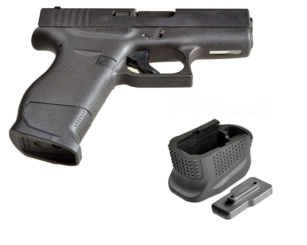 Glock 43 Enhanced Magazine Extension Base Pad Plate For 9mm 6rd Pistol Plus 2-Round G43 Mag Grip Frame Plug