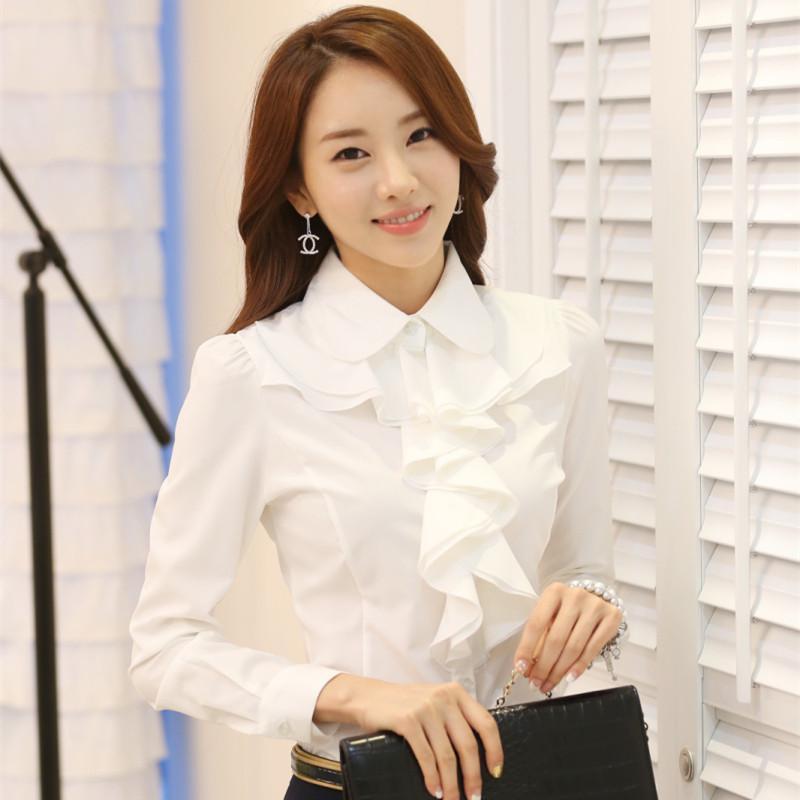 Womens White Blouse Shirt