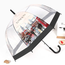 цены European Style Umbrella Building Street View Transparent Umbrella Environmentally-Friendly Thickened Apollo Bird Cage Umbrella