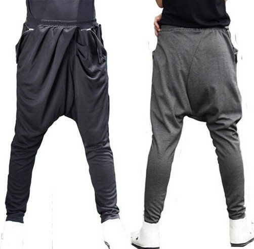 Harem Pants men's casual stylish Baggy Jogging Dance Trousers Pants S M L  / free shipping
