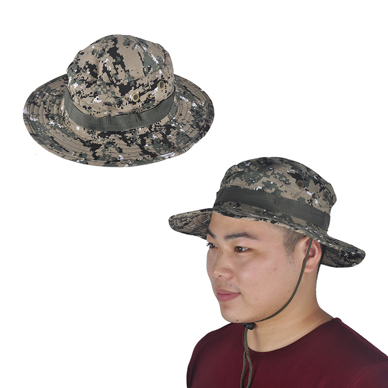 Hot sale military camouflage bucket hats jungle camo for Fishing hats for sale