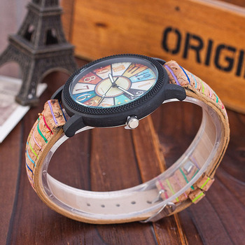 Vansvar Brand Fashion Casual Relogio Feminino Vintage Leather Women Quartz Wrist Watch Gift Clock Drop Shipping 1903 2
