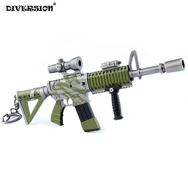Fortress Night Action Figure From Fortnit Games Thermal Scope Assault Rifle Model Alloy Weapons Keychain Pubg