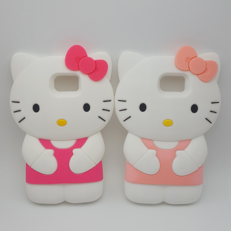 Hello Kitty Squishy Carrying Case : Cute 3D Cartoon Hello Kitty Soft Silicone Case for Samsung GALAXY S7 edge/G9350 Hellokitty ...
