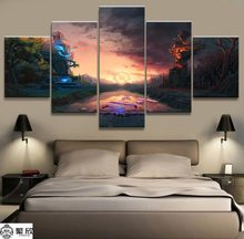 HD cetak 5 pcs DOTA 2 kanvas dinding seni Lukisan poster modern home decor Wall Art PT1510(China)