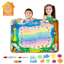 100*70CM Doodle Mat Magnetic Drawing Board With 3PCS Water Pen EVA Rubber Crafts Creativity For Kids Toddlers Toys For Learning