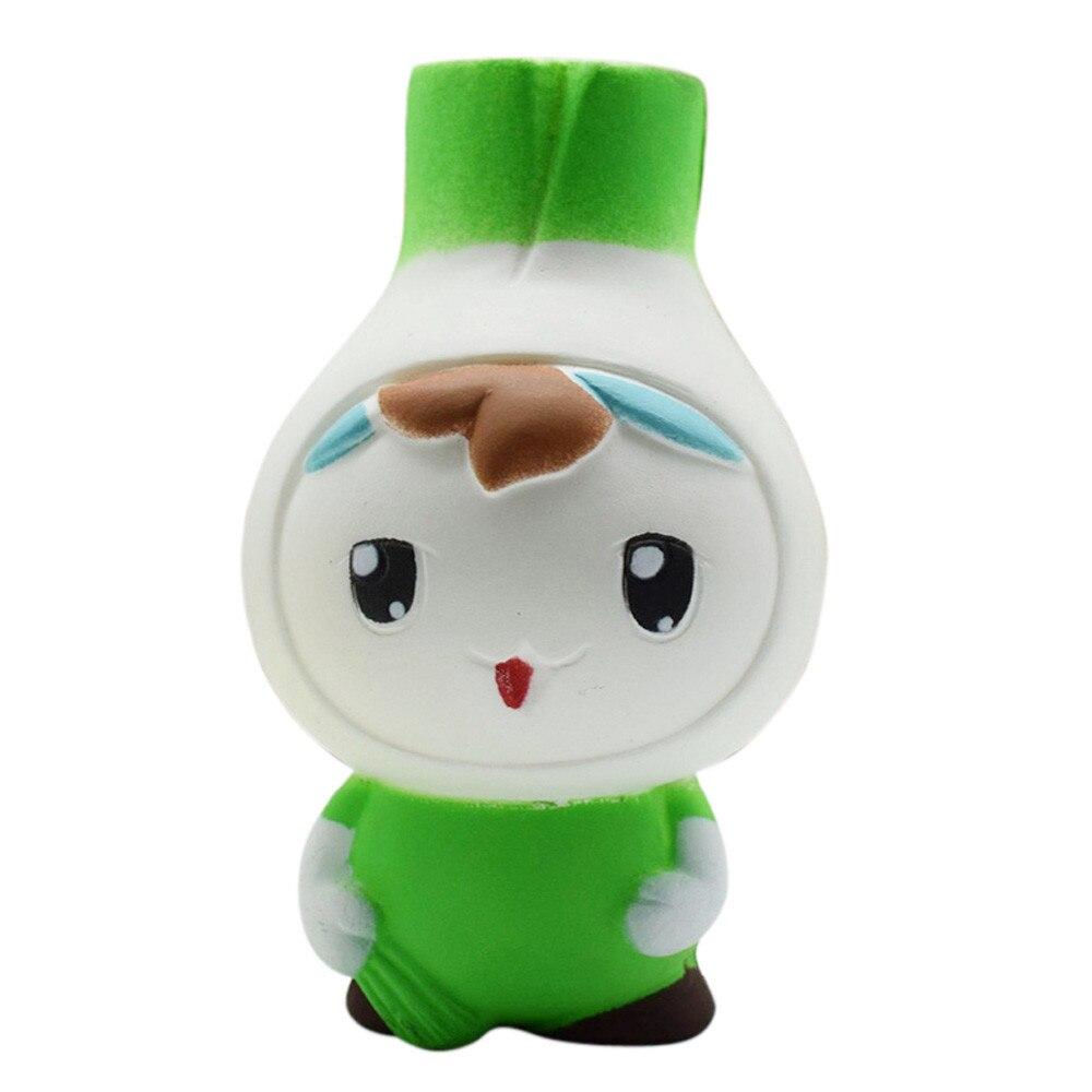 Kawaii Squishies Cartoon Garlic Squishy Stress Reliever Slow Rising Mini Foam Funny Toys 30S8228 drop shipping