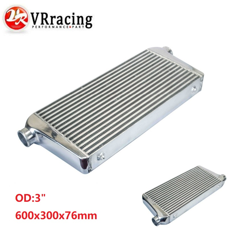 VR RACING 600 300 76mm Universal Turbo Intercooler bar plate OD 3 0 Front Mount intercooler