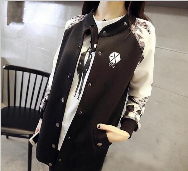 Kpop exoลู่หานเซฮุนclothingเสื้อแจ็คเก็ตเบสบอลดาวฤดูใบไม้ร่วงฤดูหนาวผู้หญิงบุรุษexoเกาหลีหลวมเสื้อกันหนาวหมวกสำหรับผู้หญิง-ใน เสื้อฮู้ดและเสื้อกันหนาว จาก เสื้อผ้าสตรี บน   1