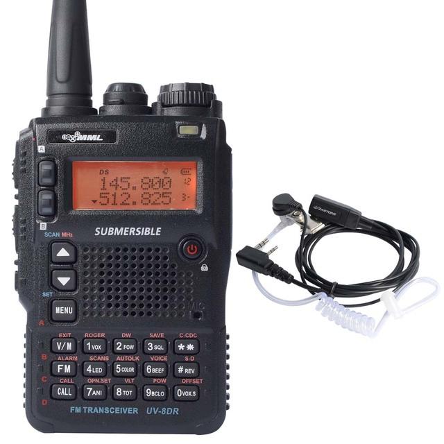 UV-8DR Tri-Band Walkie Talkie 136-174/240-260/400-520 mhz transceptor de rádio amador Yaesu commnicater Irmã com Fone de Ouvido Livre