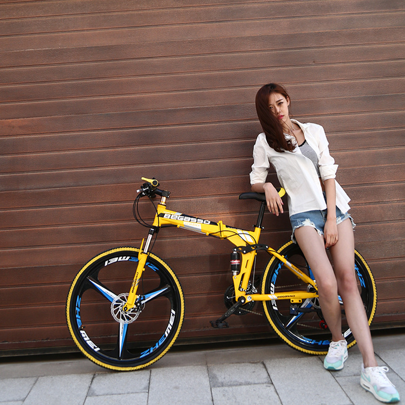 High Quality And High Equipment  26 Inch  27speed Foldable Mountain Bike