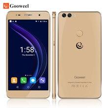Gooweel M8 Smartphone Fingerprint ID Dual 2.5D Glass 5.5 inch HD IPS screen MTK6580 quad core Mobile cell phone 1GB+8GB  13.0MP