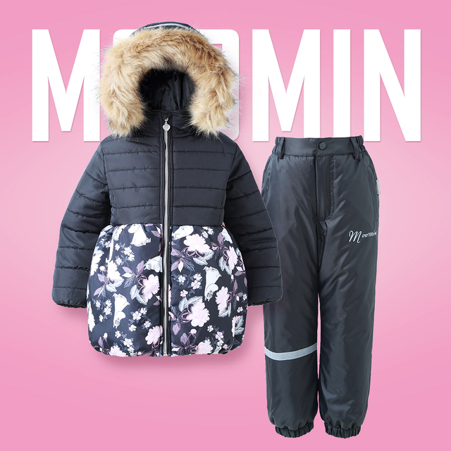 3fb342500 Moomin New Children Winter set Active Warm Turtleneck Winter ...