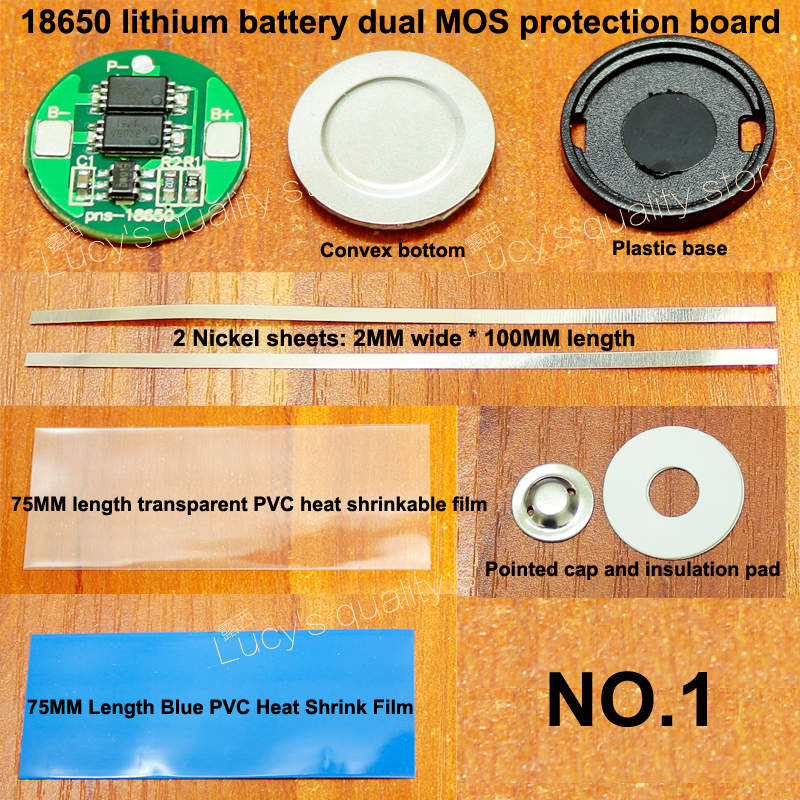 1 Set 18650 Lithium Battery Universal Dual MOS Protection Board 4.2V18650 Cylindrical Protection Board 6A Current