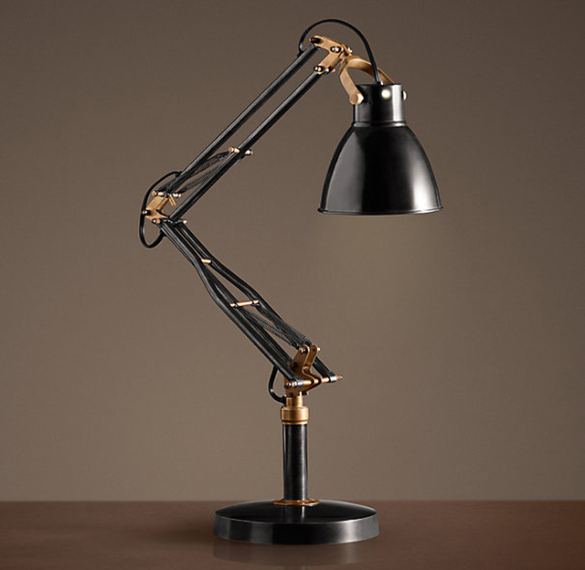 Lighting Is High Shipping American Country Industrial Spring Arm Bi Fold Table Lamp
