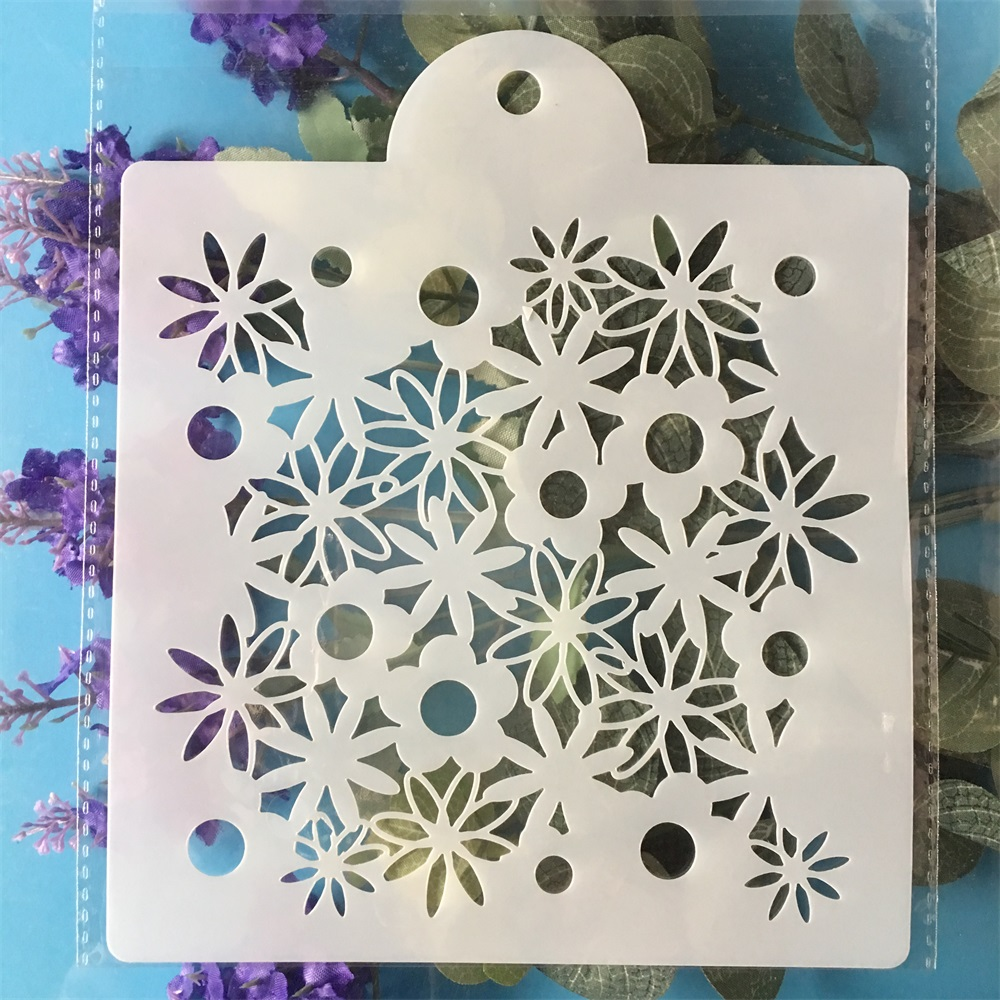 15cm Daisy Flower DIY Layering Stencils Painting Scrapbook Coloring Embossing Album Decorative Template