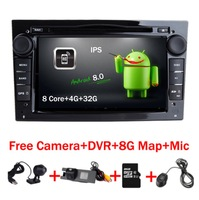 1024x600 HD 8 Core Android 8.0 Car GPS DVD Player For Opel Astra H Vectra Corsa Zafira B C G support OBD2 DVR Wifi 4G 32GB ROM.