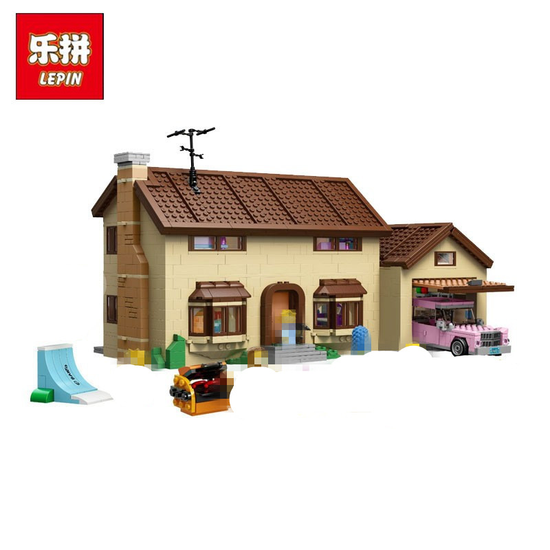 Lepin Simpsons House Building Block Bricks Compatible 71006 Toys Gift lepin 22001 pirate ship imperial warships model building block briks toys gift 1717pcs compatible legoed 10210