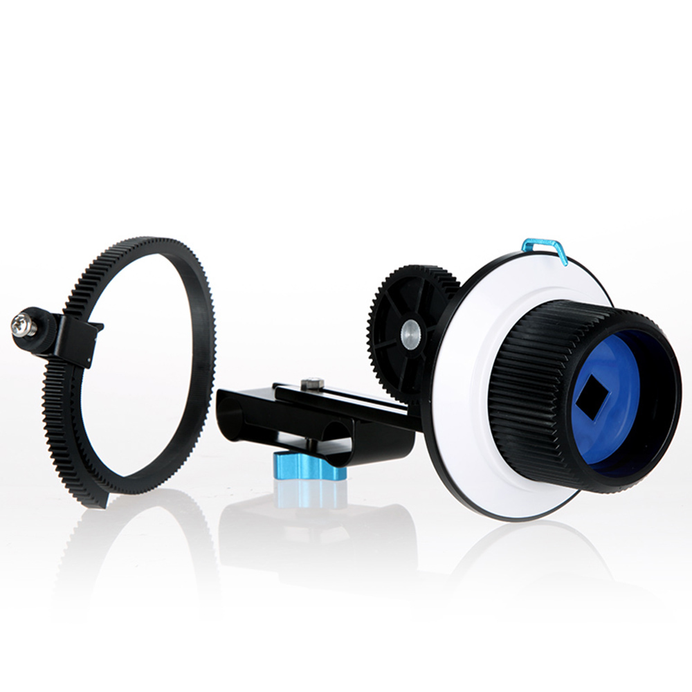 Quick Release Clamp DSLR Follow Focus with Adjustable Gear Ring Belt for 15mm Rod Rig 60D 600D 5D2 GH2 D7000