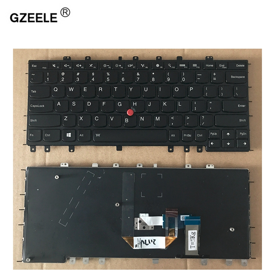 GZEELE English NEW Keyboard For Lenovo Thinkpad S1 Yoga 12 Yoga S240 black US layout Laptop Keyboard With backlight цена