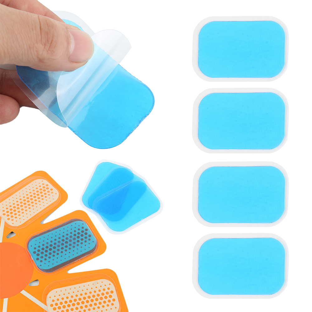 6/4/2Pcs Abdominal Exerciser Hydrogel  Stickers Silicone Replacement Pads For Muscle Stimulator Gel Trainer Body Massager Patch