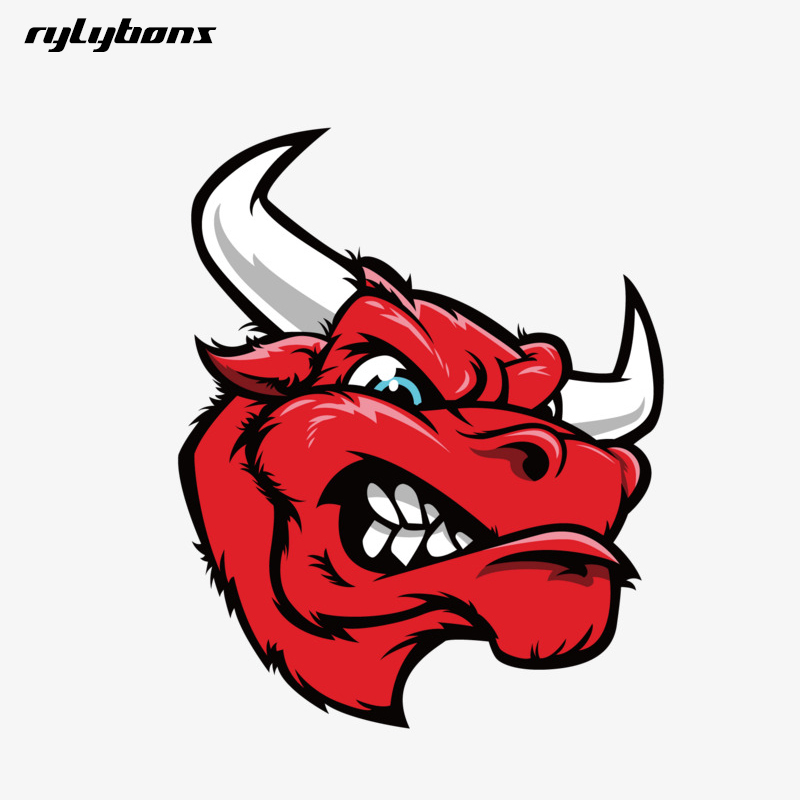 US $1 65 5% OFF|Aliexpress com : Buy rylybons new funny car sticker animal  3D Angry Cow motorcycle vinyl car stickers and decals car styling