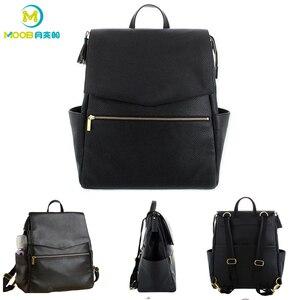 Image 2 - Сумка для детских подгузников из искусственной кожи, рюкзак большой емкости, рюкзак для подгузников, дорожная сумка для мам, сумка для детских колясок