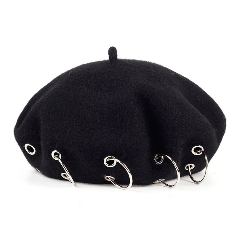 fff51dab73bcc Detail Feedback Questions about VORON 2017 New ladies cashmere personalized  buckle hat cap berets fashion stitching female wool fixed winter warm hat  cotton ...