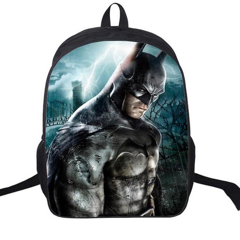 16 Zoll Rucksack Batman Taschen Für Schule Jungen Batman Rucksäcke ...
