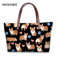 INSTANTARTS Women Large capacity Handbags Cute Dog Ladies To