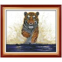 Handgemachte Tiger König Zurück Muster Gezählt Kreuzstich 11 14CT Kreuzstich Setzt Chinesische kreuzstich Kits Stickerei Hand
