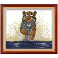 Handmade Tigre Re Torna Patterns Contati Punto Croce 11 14CT Punto Croce Imposta Cinese Kit punto Croce Ricamo ad ago