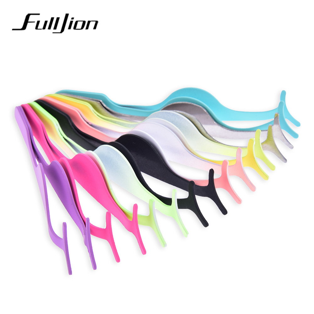 fe35d0e44c4 Fulljion Colorful Stainless Steel False Eyelashes Applicator Clip Fake Make  Up Eye Lash Tweezers Beauty Makeup Tool For Eyes