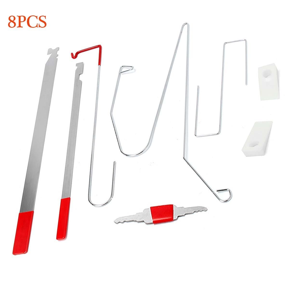 8 Pcs Universal Verrouillage Outil Kit Déverrouiller la Porte de Voiture D'ouverture Accès Outils Bump Key Kit