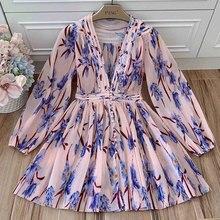 v-образным Платья 2019 мини-платье