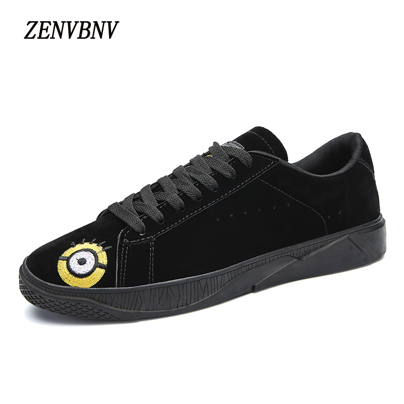 ZENVBNV Brand PU Leather men casual shoes Luxury Flat Fashion Designer Breathable Mens Shoes Casual Male Footwear Minions Shoes blaibilton men casual shoes luxury brand genuine leather flat fashion designer breathable mens shoes casual male footwear sd6219