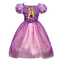 ABGMEDR Brand Belle Dress Girls Cinderella Dresses Children Rapunzel Aurora Princess Dresses Party Halloween Costume Clothes