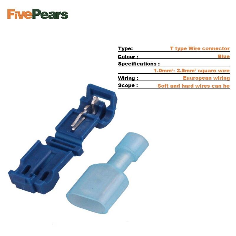 FIVEPEARS 30SETS/lot L1 Blue T Type Quick Splice Crimp