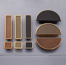 2.5 3.75 Retro Semicircle Handles Dresser Pulls Square Drawer Knobs Antique Bronze Black Kitchen Cabinet Door Handle