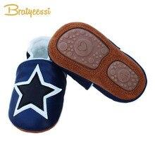 Новая зимняя детская обувь с плюшевой подкладкой; детские мокасины из натуральной кожи; нескользящая обувь для маленьких мальчиков; 3 цвета