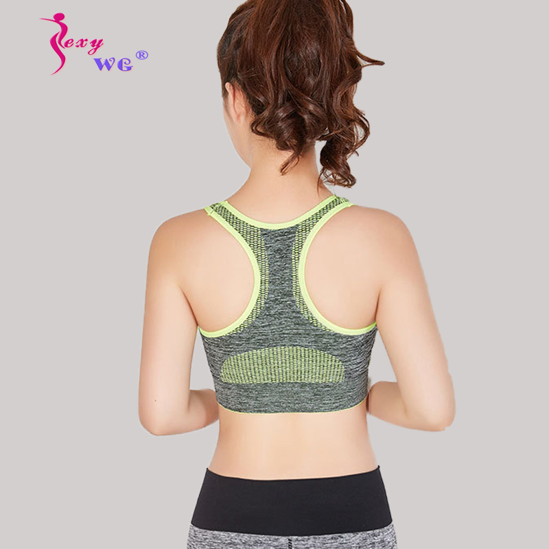 9fdc14965bd1c Detail Feedback Questions about SEXYWG Yoga Bra Women Breathable Bh Sport  Shirt Gym Running Vest Underwear Top Female Fitness Sports Bra Shirt Top  Yoga ...