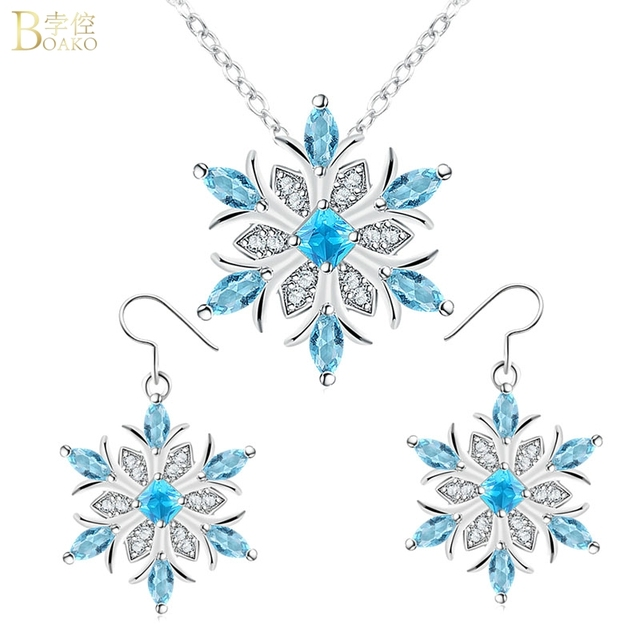 Snowflake Crystal Necklace 1