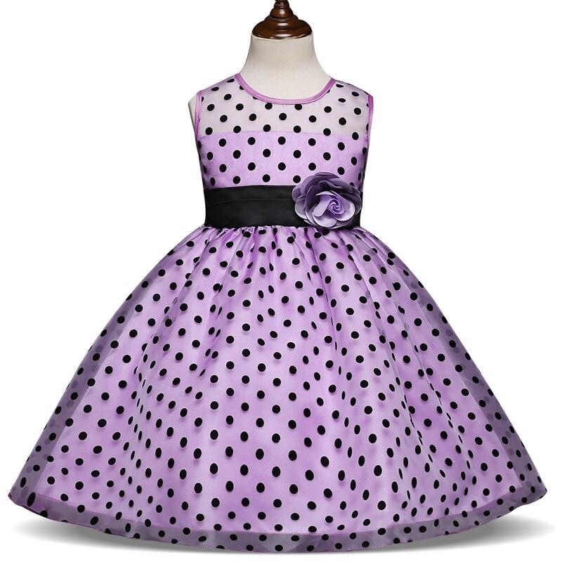 New Kids Fashion Princess Summer Girl Dress Classic White Black Polka Dots Children Dresses For Little Girl Tutu Dresses classic contrast color club mini dress black white